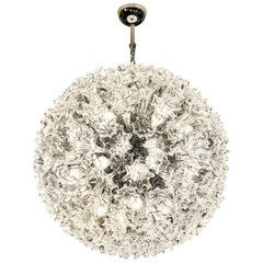 Venini Esprit Medium Suspension Swing Lamp in Crystal