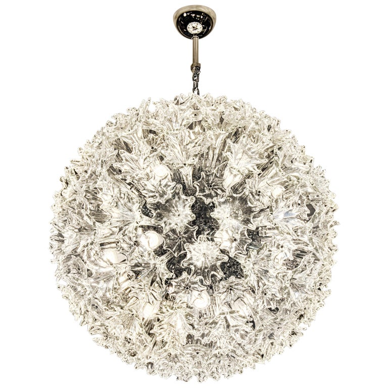 Venini Esprit Medium Suspension Swing Lamp in Crystal For Sale