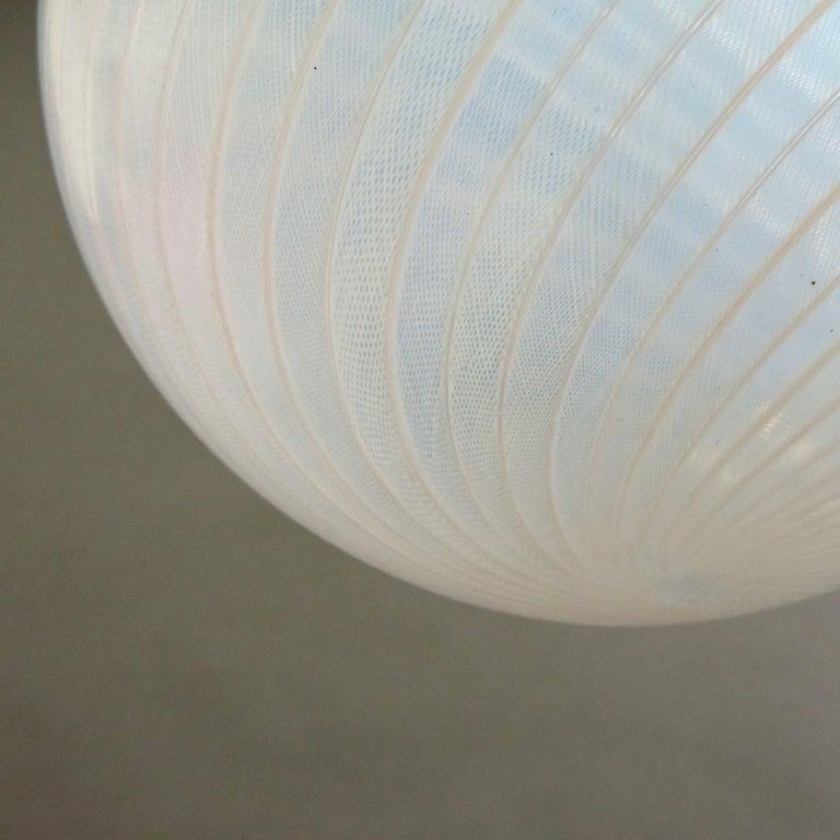 Art Deco Venini 'Filigrana' Glass Lantern, Italy, 1930s For Sale