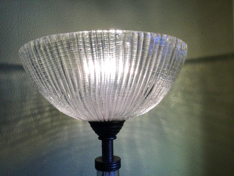 Venini Floor Lamp Murano Glass and Brass, 1930 For Sale 13
