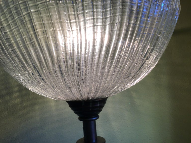 Venini Floor Lamp Murano Glass and Brass, 1930 For Sale 2