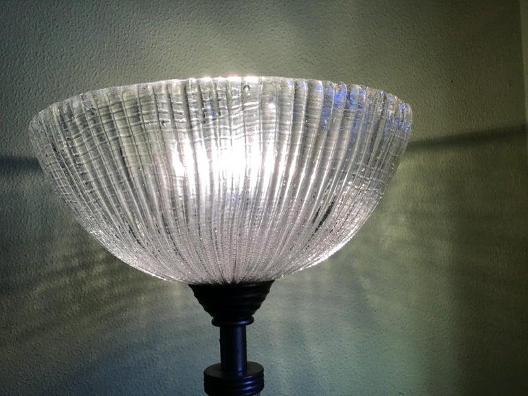 Venini Floor Lamp Murano Glass and Brass, 1930 For Sale 3