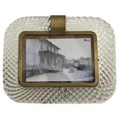 Venini Frame Murano Glass Brass, 1940, Italy