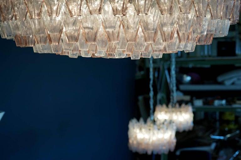 Venini Glass Chandelier Lamp Light Poliedri by Carlo Scarpa For Sale 4