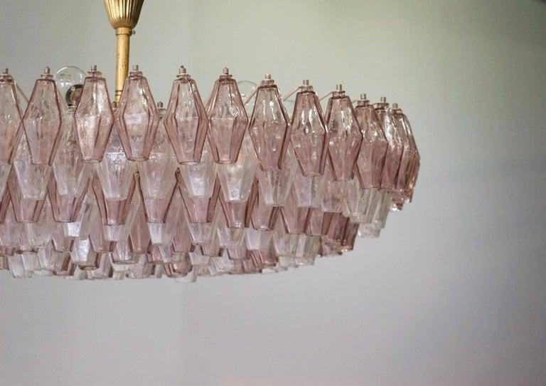 Venini Glass Chandelier Lamp Light Poliedri by Carlo Scarpa In Excellent Condition For Sale In Greven, DE