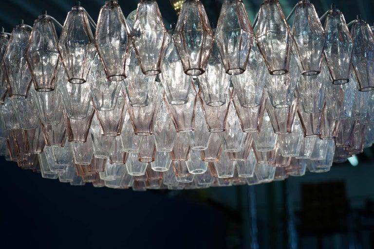 Venini Glass Chandelier Lamp Light Poliedri by Carlo Scarpa For Sale 1
