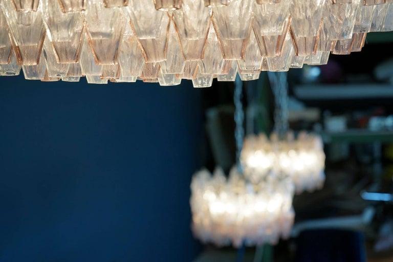 Venini Glass Chandelier Lamp Light Poliedri by Carlo Scarpa For Sale 3