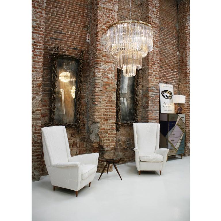 Late 20th Century Venini Glass Suspension Lamp For Sale