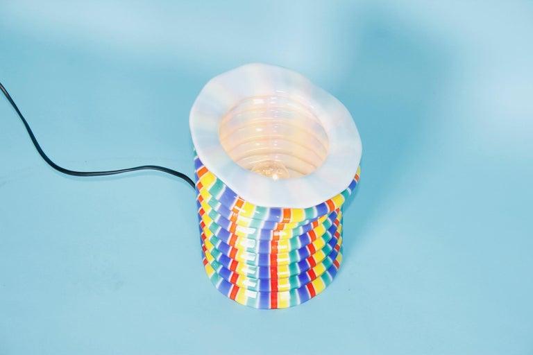 Venini glass table lamp.