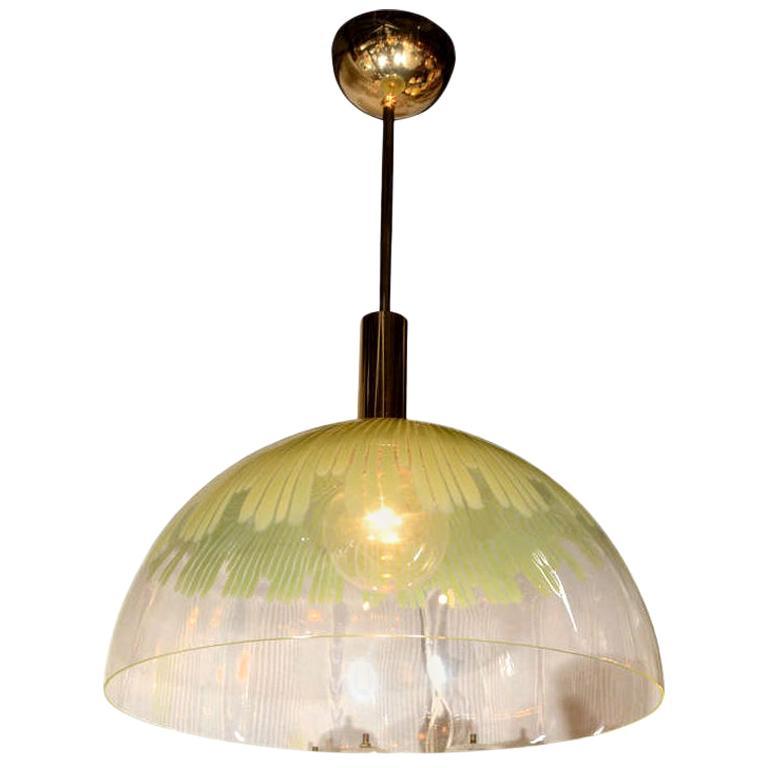 Venini Green Dome Pendant Light by Ludovico Diaz de Santillana