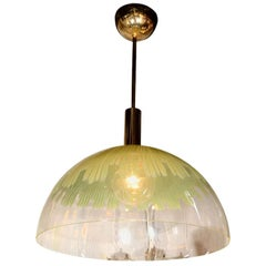 Venini Green Dome Pendant Light by Ludovico Diaz de Santillana