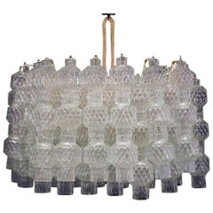 Venini Italian Chandelier Midcentury in Murano Glass from 1960s
