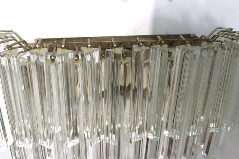 Venini Italian Modern Glass Sconces with Triedri Prisms For Sale 3