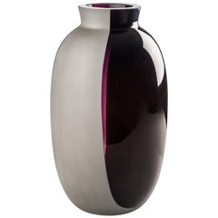 Venini Koori Tall Vase in Violet and Concrete by Emmanuel Babled