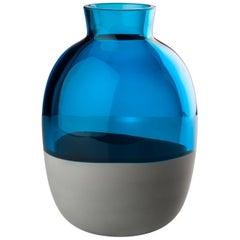 Venini Koori Vase in Aquamarine and Concrete by Emmanuel Babled