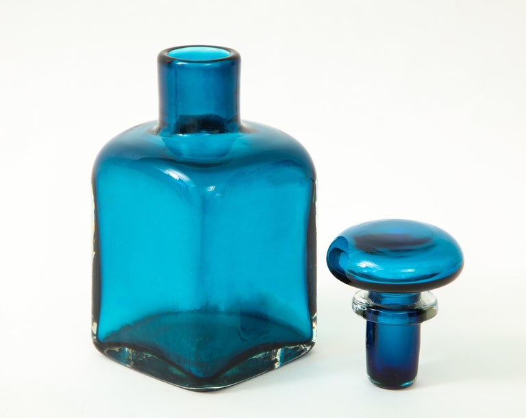 Italian Venini Large Bottle with Stopper For Sale