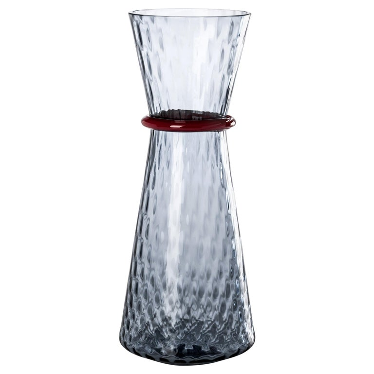 Venini Large Tiara Vase in Grape and Red Glass by Francesco Lucchese For Sale