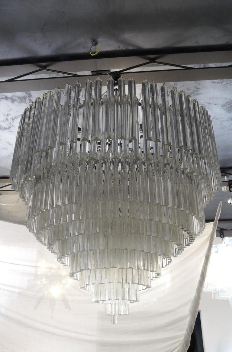 Venini Mid-Century Modern Crystal Murano Glass Chandelier