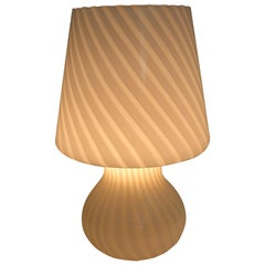 Venini Mid-Century Modern Italian Murano Glass Mushroom Table Lamp, 1970s