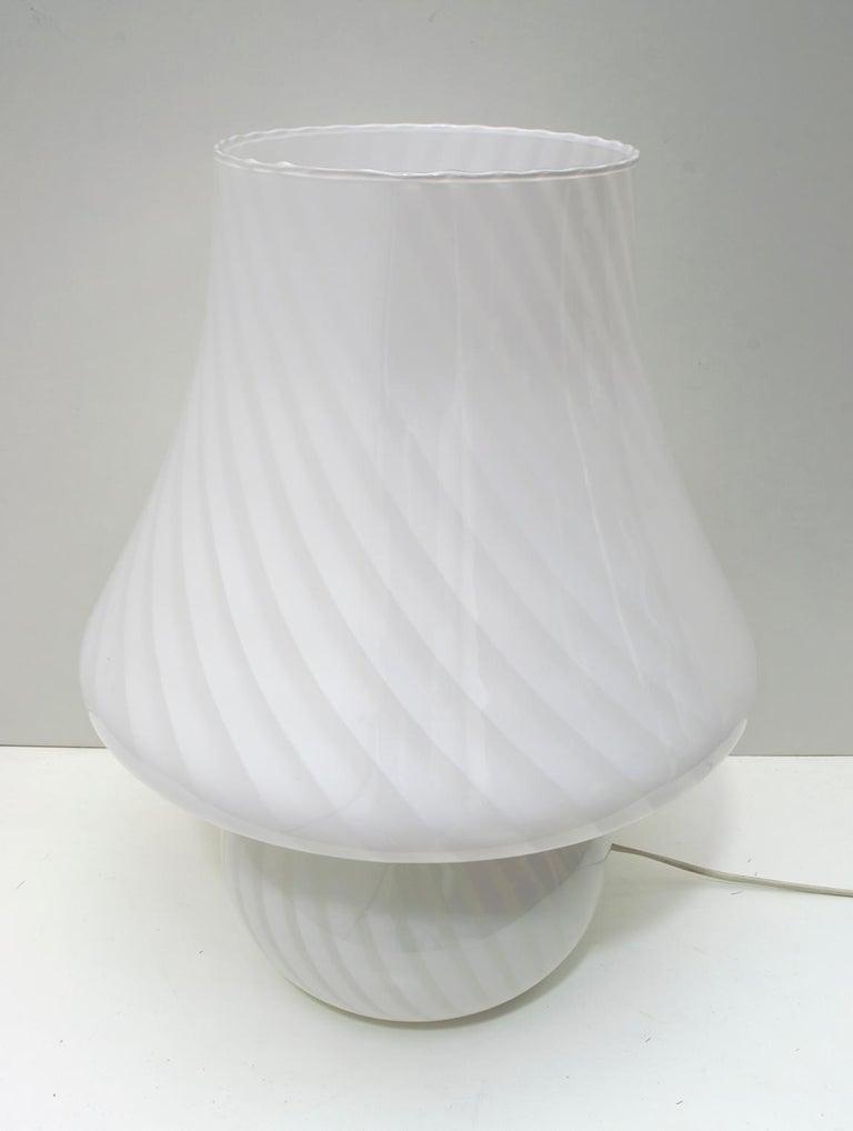 Venini Mid-Century Modern Italian Murano Glass Table Lamp, 1970s For Sale 6