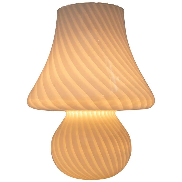 Venini Mid-Century Modern Italian Murano Glass Table Lamp, 1970s For Sale