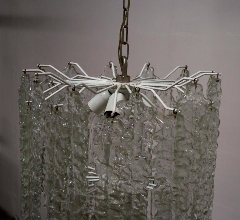 Venini Mid-Century Modern Murano Glass Italian Chandelier, 1960s For Sale 6