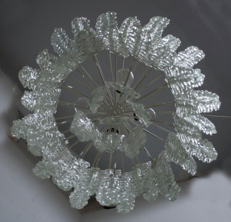 Venini Mid-Century Modern Murano Glass Italian Chandelier, 1960s For Sale 4