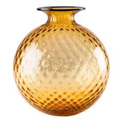 Venini Monofiore Balloton Extra Large Vase in Amber Murano Glass