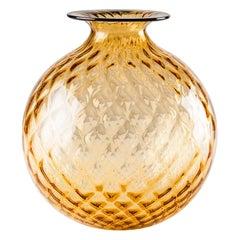 Venini Monofiore Balloton Large Vase in Amber Murano Glass