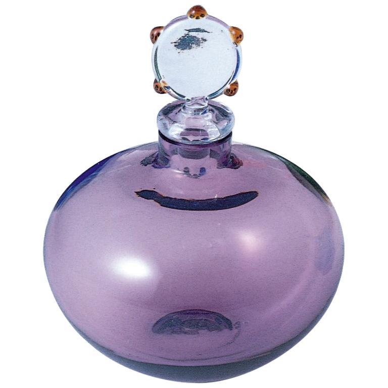 Venini Monofiori Amethyst Glass Vase by Laura de Santillana
