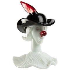 Venini Murano Fulvio Bianconi Tiepolo Head Figurine