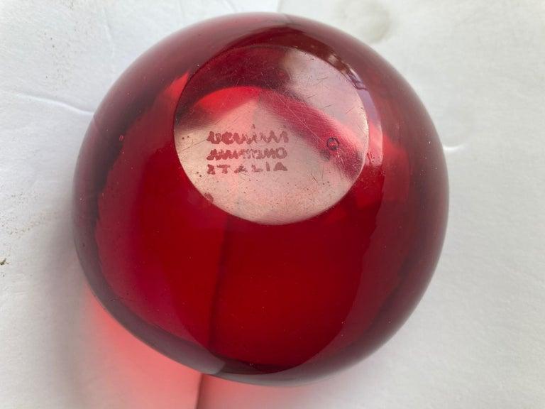 Modern Venini, Murano Glass Bowl/Small Vase Acid Signed 'Venini, Murano, Italia' 3 Line For Sale