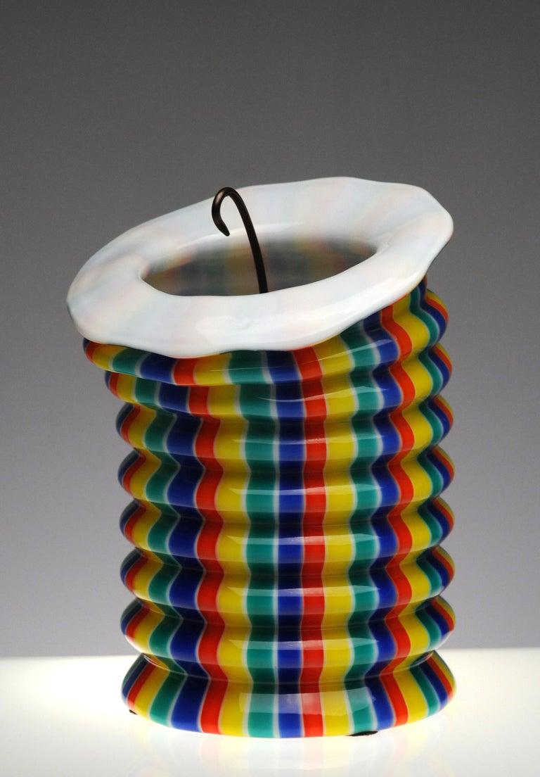Venini Murano Glass Candleholder Lantern Fulvio Bianconi I Baloni Del Redentor  6