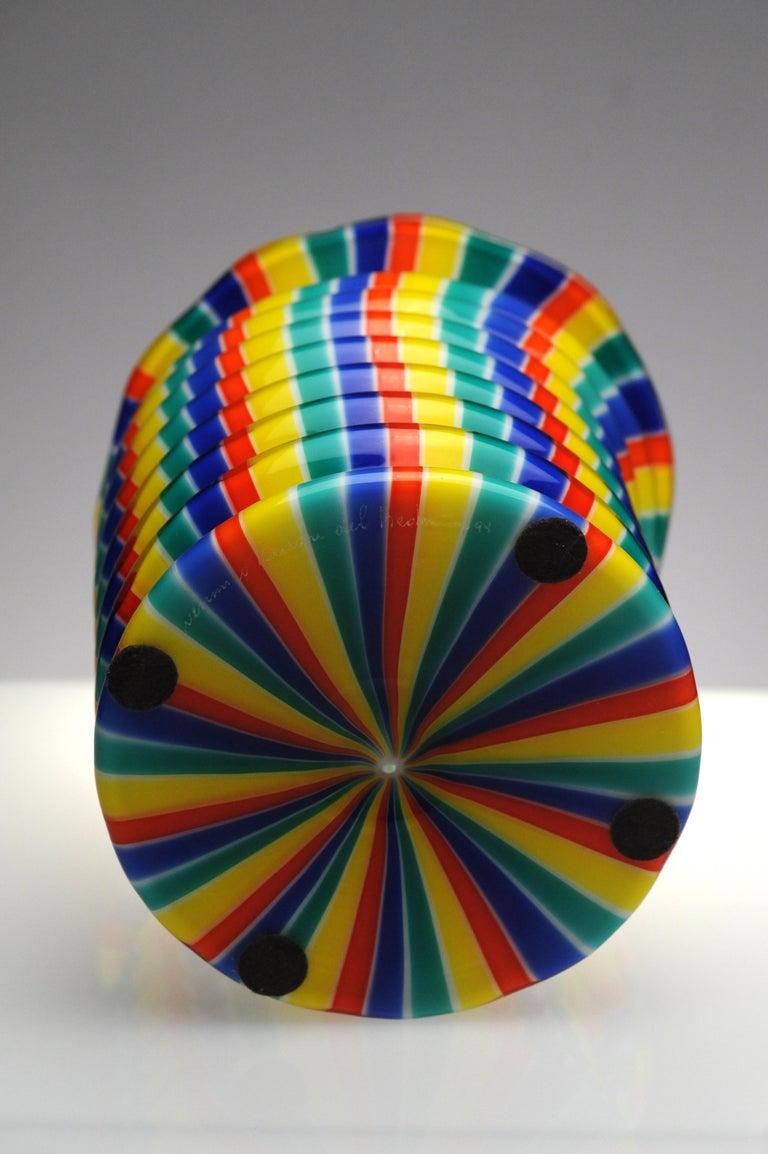 Venini Murano Glass Candleholder Lantern Fulvio Bianconi I Baloni Del Redentor  8