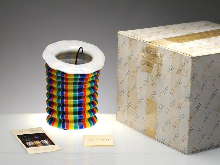 Italian Venini Murano Glass Candleholder Lantern Fulvio Bianconi I Baloni Del Redentor