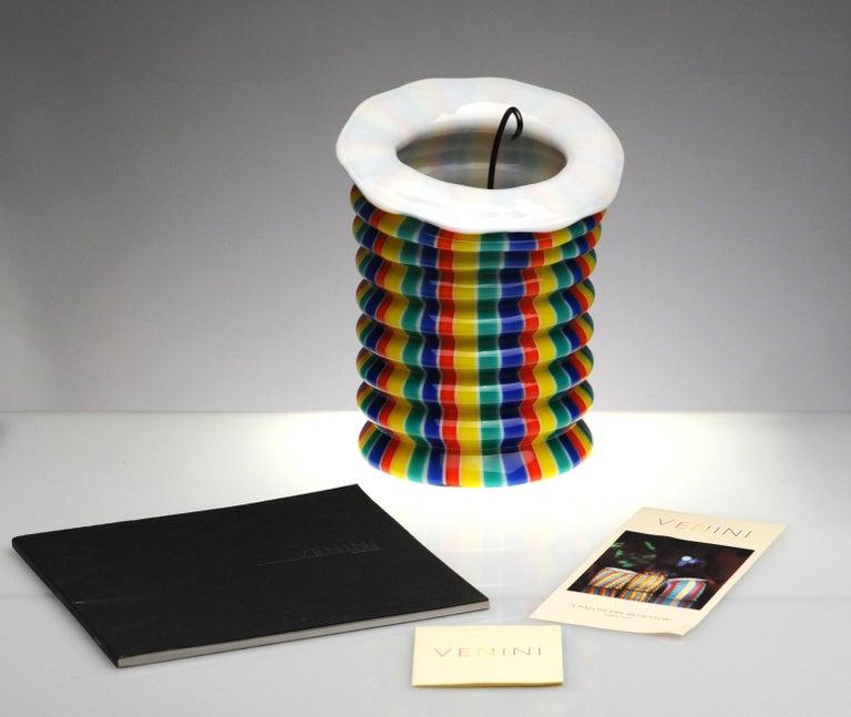Venini Murano Glass Candleholder Lantern Fulvio Bianconi I Baloni Del Redentor  In Excellent Condition In Washington, DC