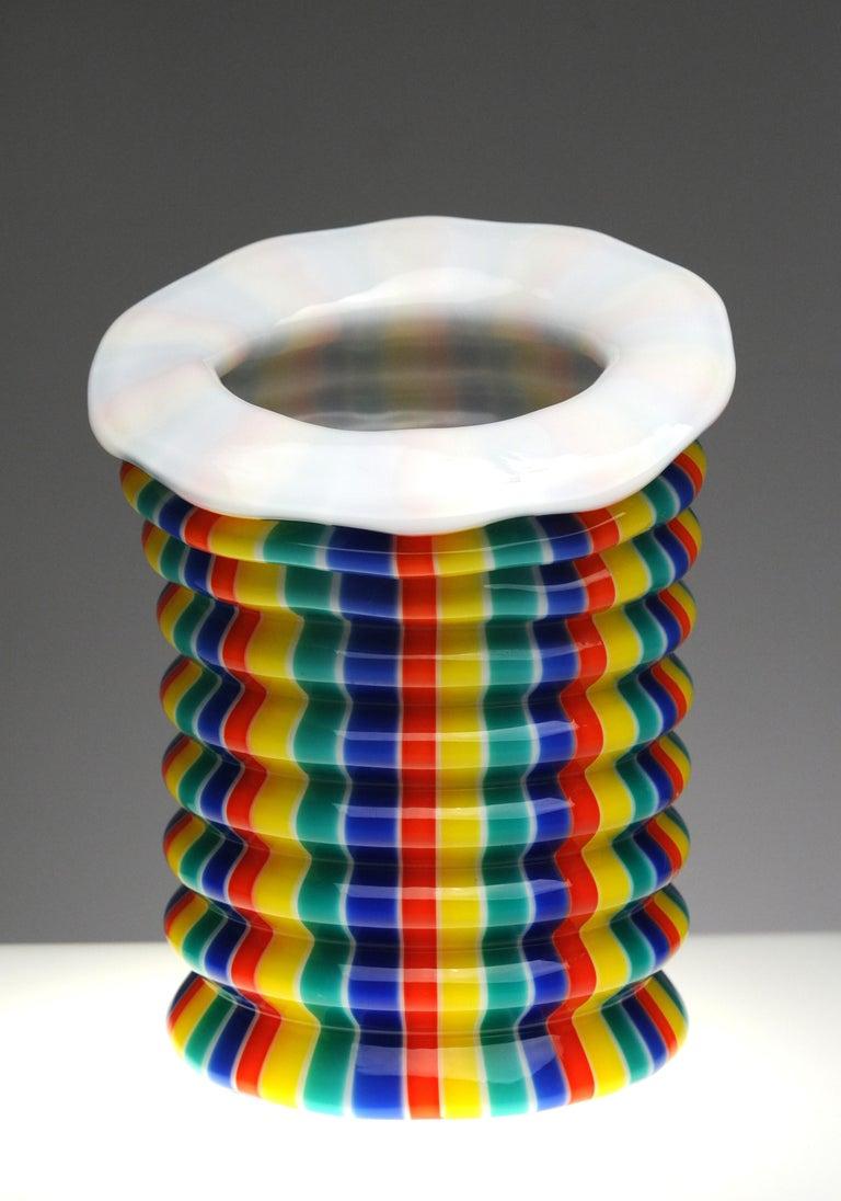 Venini Murano Glass Candleholder Lantern Fulvio Bianconi I Baloni Del Redentor  1
