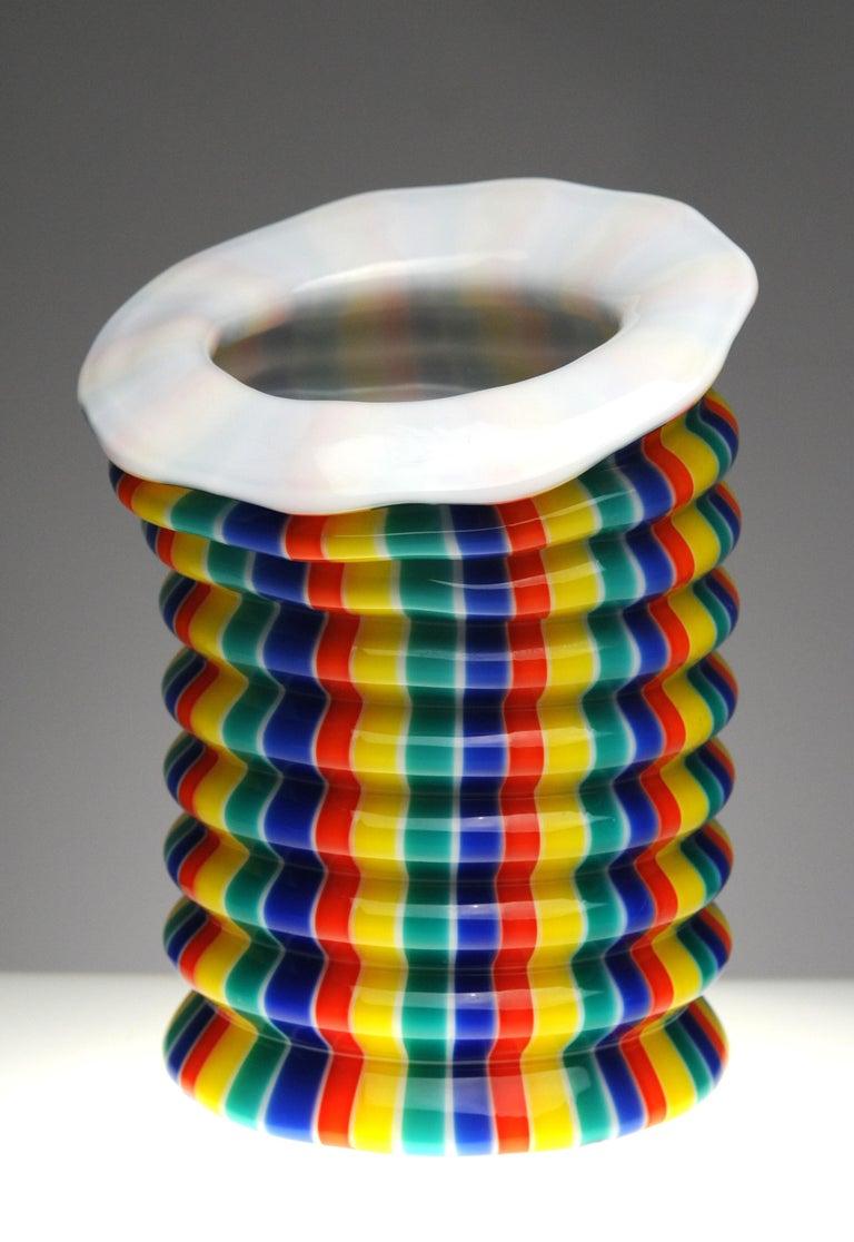Venini Murano Glass Candleholder Lantern Fulvio Bianconi I Baloni Del Redentor  3