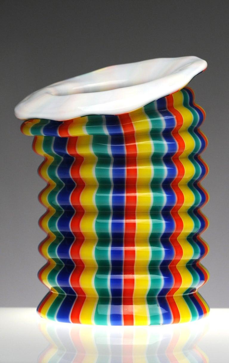 Venini Murano Glass Candleholder Lantern Fulvio Bianconi I Baloni Del Redentor  4