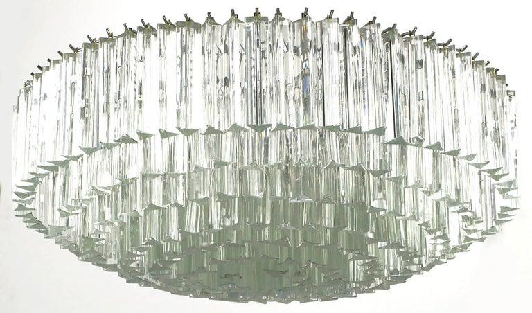 Italian Venini Murano Glass Chandelier For Sale
