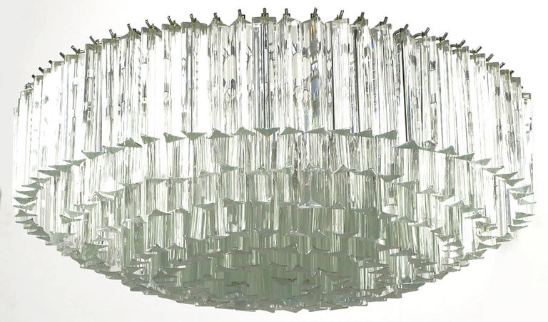 Italian Venini Murano Glass Chandelier For Sale