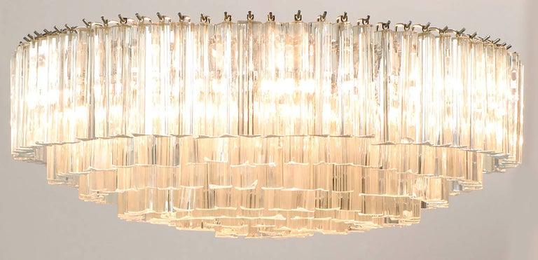 Venini Murano Glass Chandelier In Good Condition For Sale In Chicago, IL