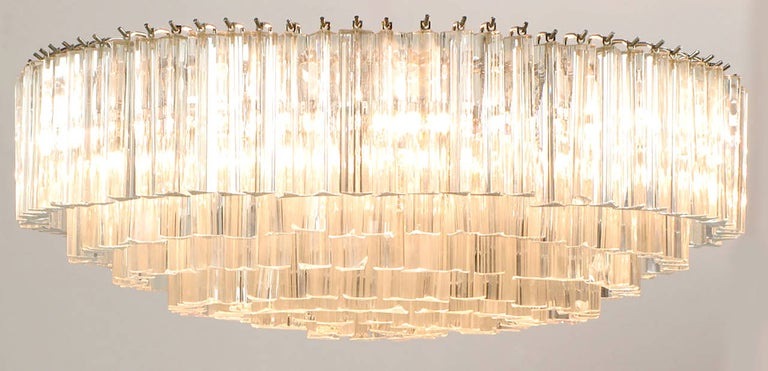 Venini Murano Glass Chandelier In Good Condition For Sale In Chicago, IL
