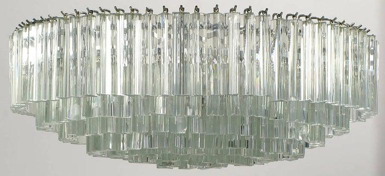 Mid-20th Century Venini Murano Glass Chandelier For Sale