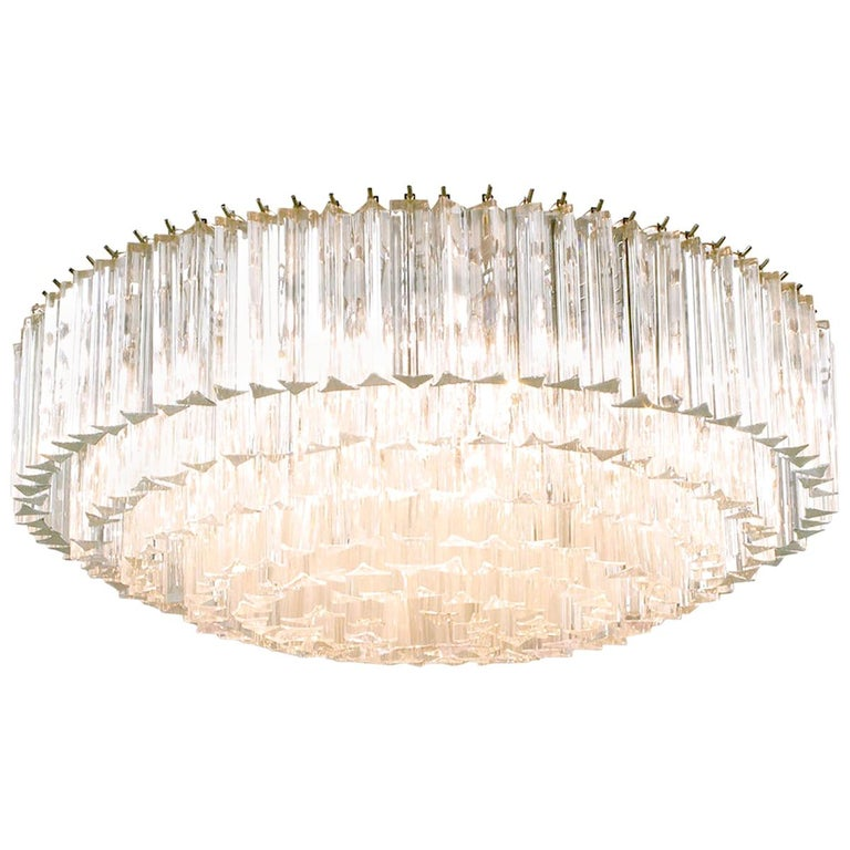 Venini Murano Glass Chandelier For Sale