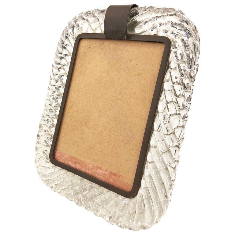 Venini Murano Glass Picture Frame For Sale