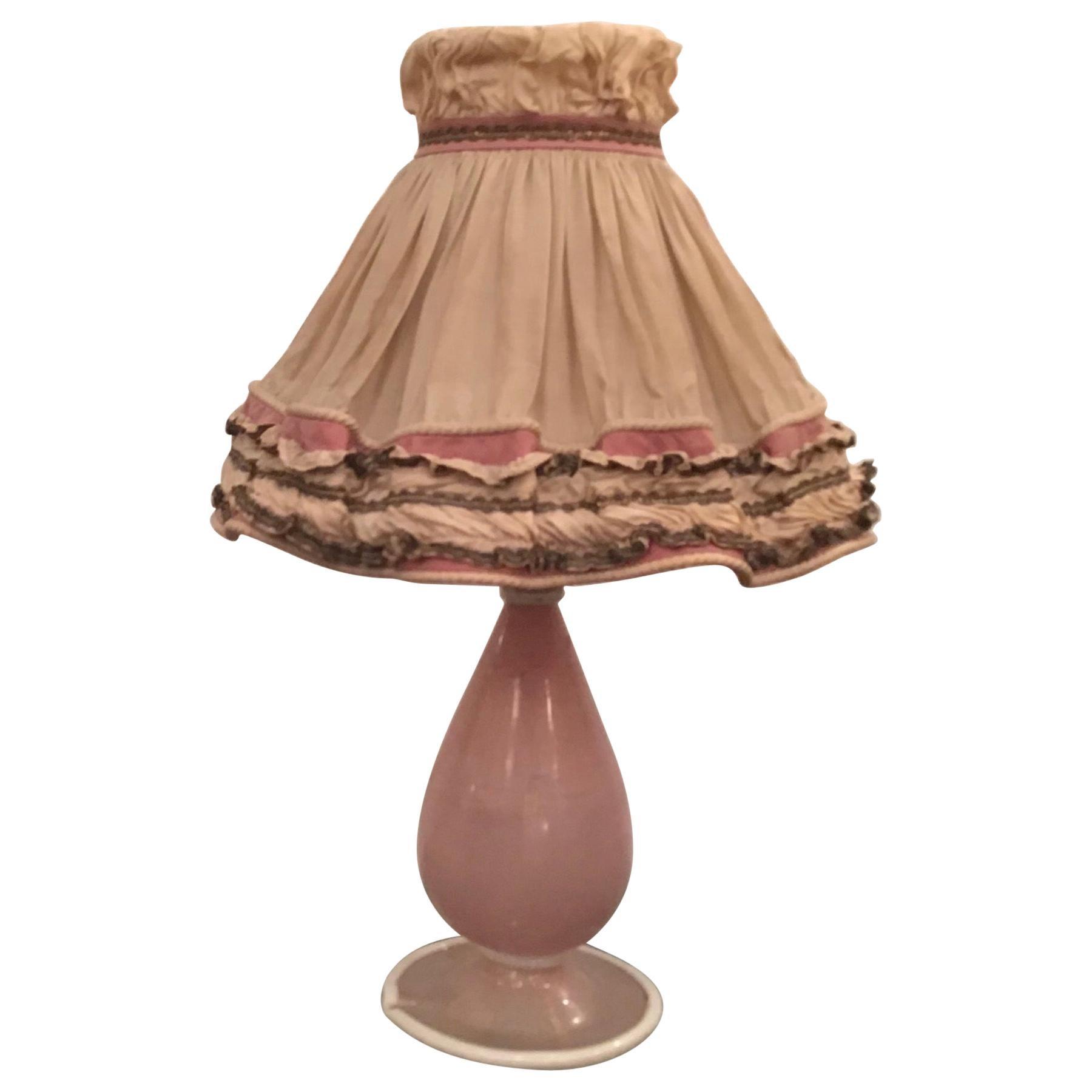 Venini Murano Glass Table Lamp 1950 Italy