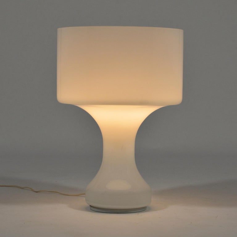 Italian Venini Murano Glass Table Lamp For Sale