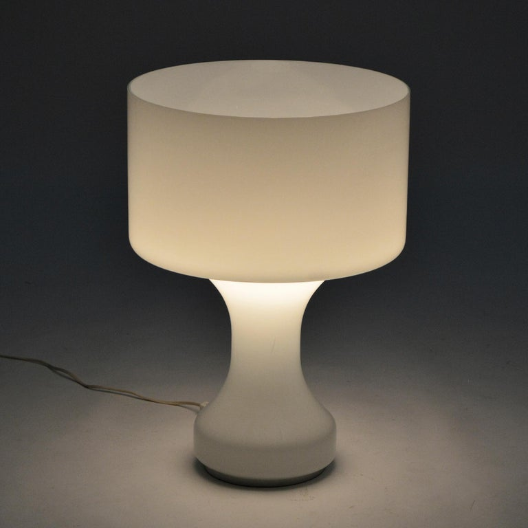 Late 20th Century Venini Murano Glass Table Lamp For Sale