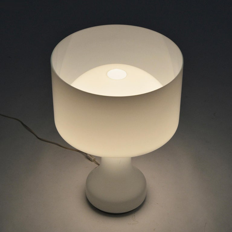 Venini Murano Glass Table Lamp For Sale 1